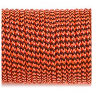 Minicord. Paracord 100 Type I (1.9 mm), orange black wave #377-type1