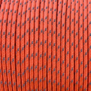Minicord Reflective. Paracord 100 Type I (1.9 mm), sofit orange #R2345-type1