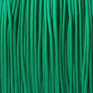 Minicord. Paracord 100 Type I (1.9 mm). emerald green #086-type1