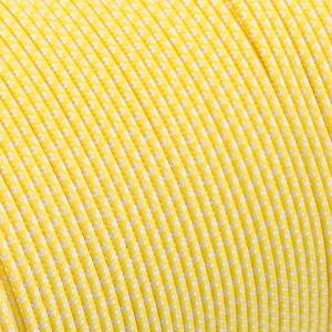 Minicord. Paracord 100 Type I (1.9 mm).  white/yellow pastel snake  #447 (007|419)-Type1