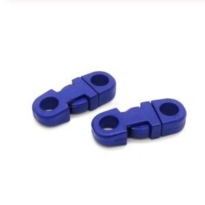 Закругленный фастекс пластиковый 5мм, синий
