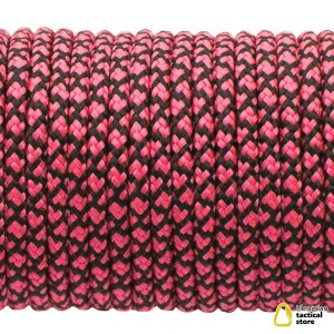 Minicord. Paracord 100 Type I (1.9 mm), sofit pink snake #292-type1  (315+016)