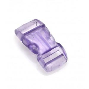 """3/8"""", прозрачный фиолетовый, фастекс пластиковый"""