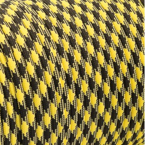 Paracord 550, black yellow camo #043