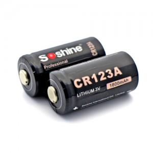 Батарейка литиевая Li-Ion CR123A / 16340 Soshine 3V (1600mAh)