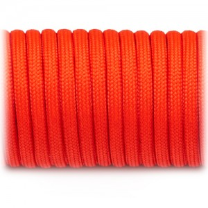 Paracord 550 orange red #009
