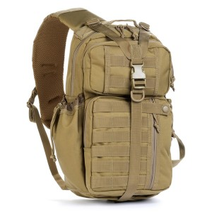 Тактический патрульный однолямочный рюкзак Red Rock Rambler Sling 16, Coyote, 16л