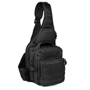 Тактический патрульный однолямочный рюкзак Red Rock Recon Sling, Black, 25л