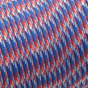 Paracord 550, red blue white camo #023