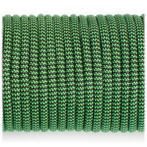Paracord 550, black green wave #132