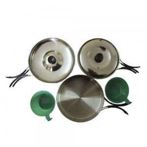 Набор стальной посуды на 2 персоны MIL-TEC