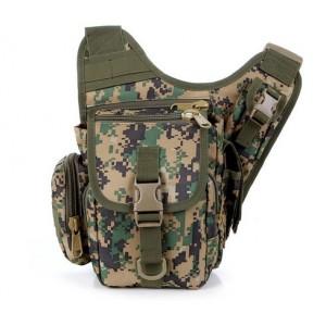 Тактическая плечевая сумка D5-1012, jungle digital