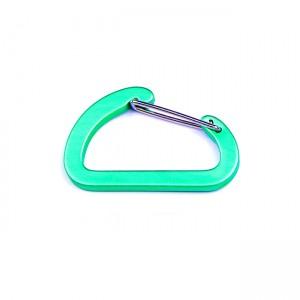 D-образный карабин для развески снаряжения, green