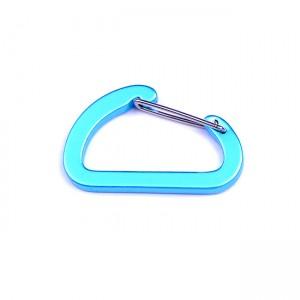 D-образный карабин для развески снаряжения, blue