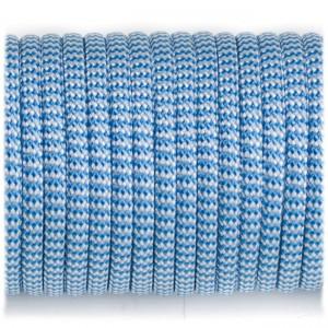 Paracord 550, blue white wave #131