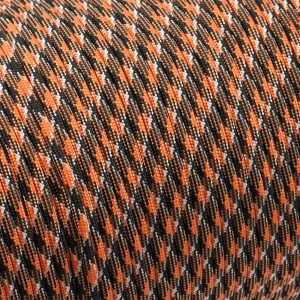 Paracord 550, black orange camo #047