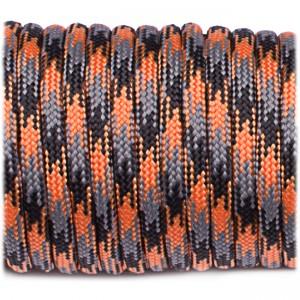 Paracord 550, orange blaze camo #158