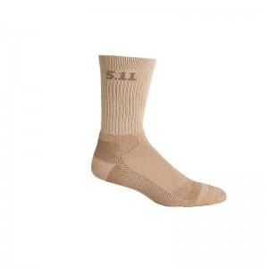 Носки тактические средней плотности 5.11 Tactical Level I 6 Sock - Regular Thickness, Coyote