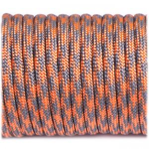 Paracord 550, grey orange quarter #344