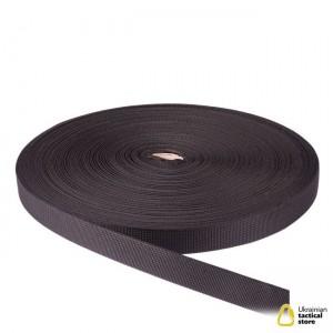 Лента ременная, 20 мм, черная полиамидная